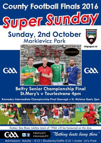 County Finals Sunday 2nd October