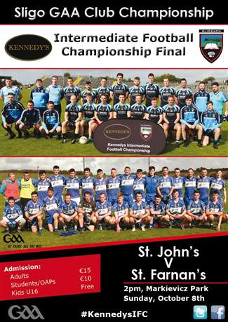 Kennedys IFC County Final Sun 8th Oct 2pm
