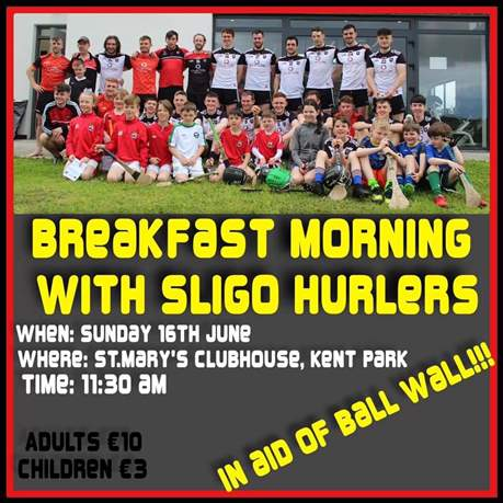Hurlers Breakfast morning - Sunday